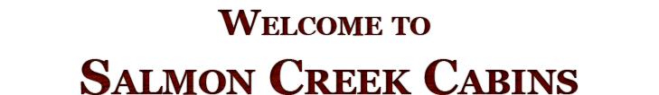 Welcome to Salmon Creek Cabins